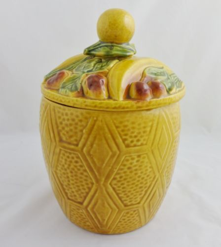 Cookie Jar California USA Maurice Ceramics Fruit Covered Lid FR212