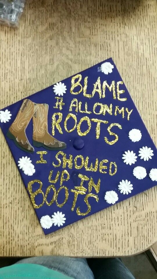 Country grad cap decorations #country song lyrics #friends in low ...