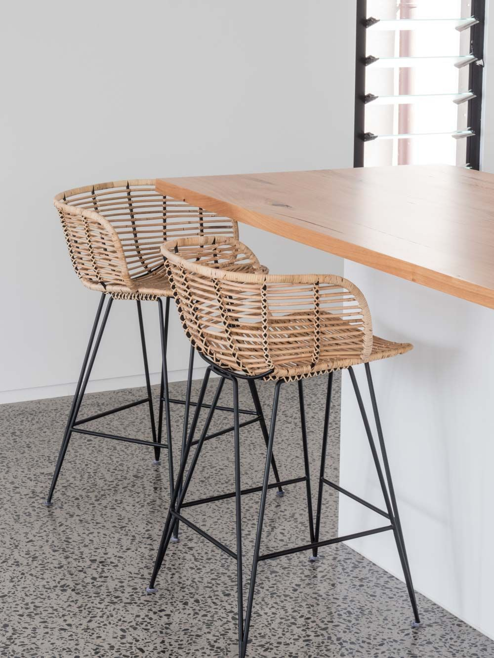 Rattanmöbel 24 Anna Kitchen Stool Indoor Furniture Kitchen Stool Rattan