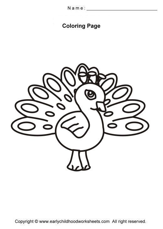 Image Detail For Easy And Simple Coloring Pages For Early