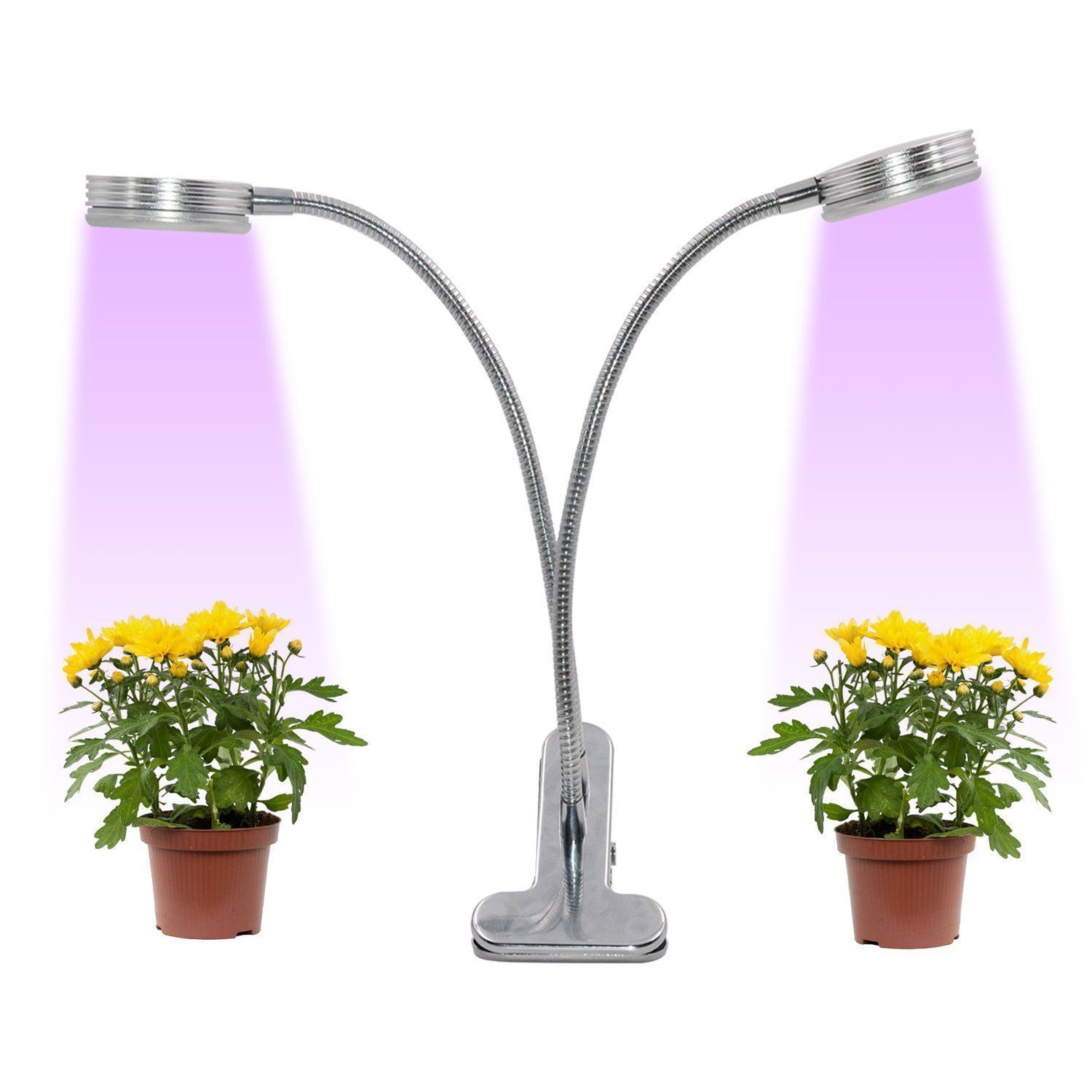 2018 UPGRADED] Dual Head Plant Grow Light - 12W 2 Gears LED Grow ...