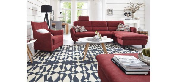Mut zur Farbe!#wohnzimmer #sofa #sessel #rot   Wohnzimmer   Pinterest