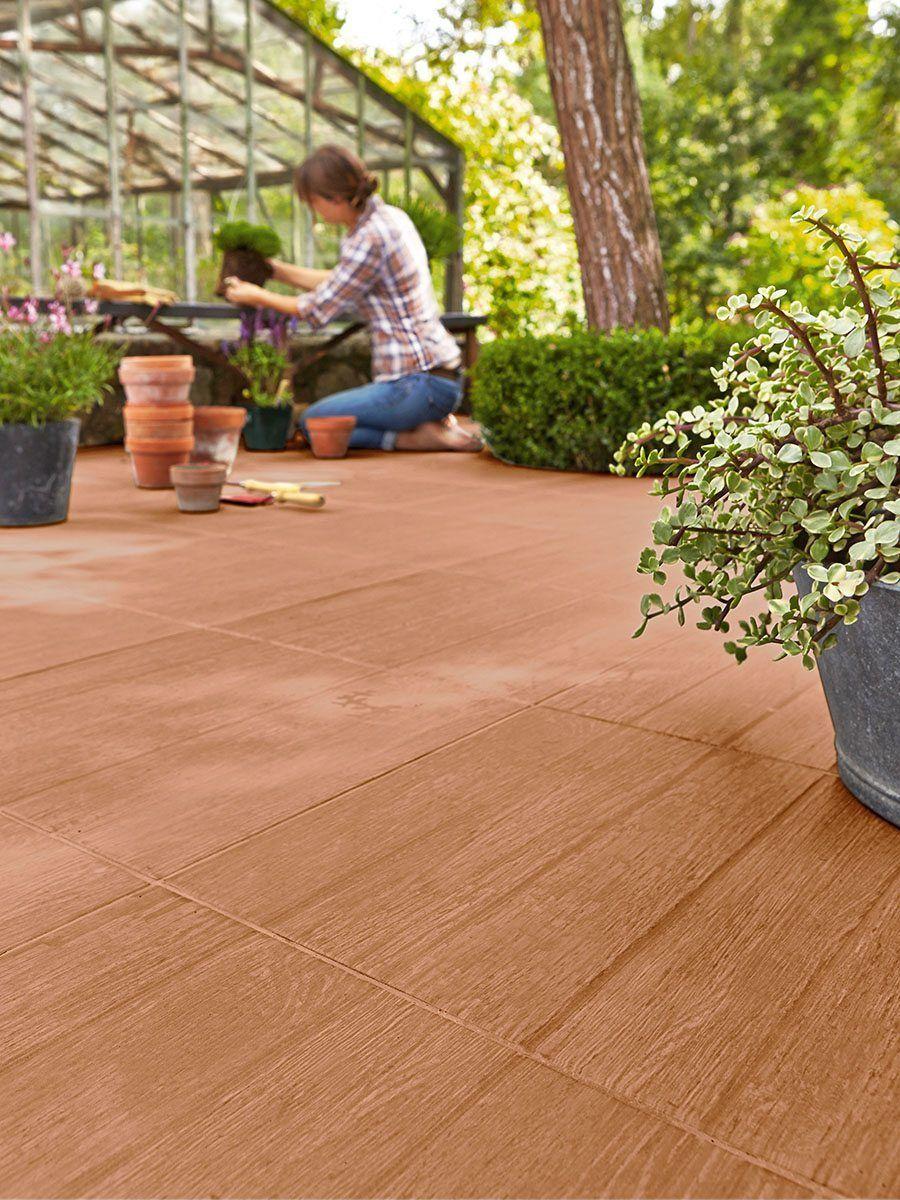 Suelo de cer mica en madera decks pinterest suelos for Ideas suelo terraza