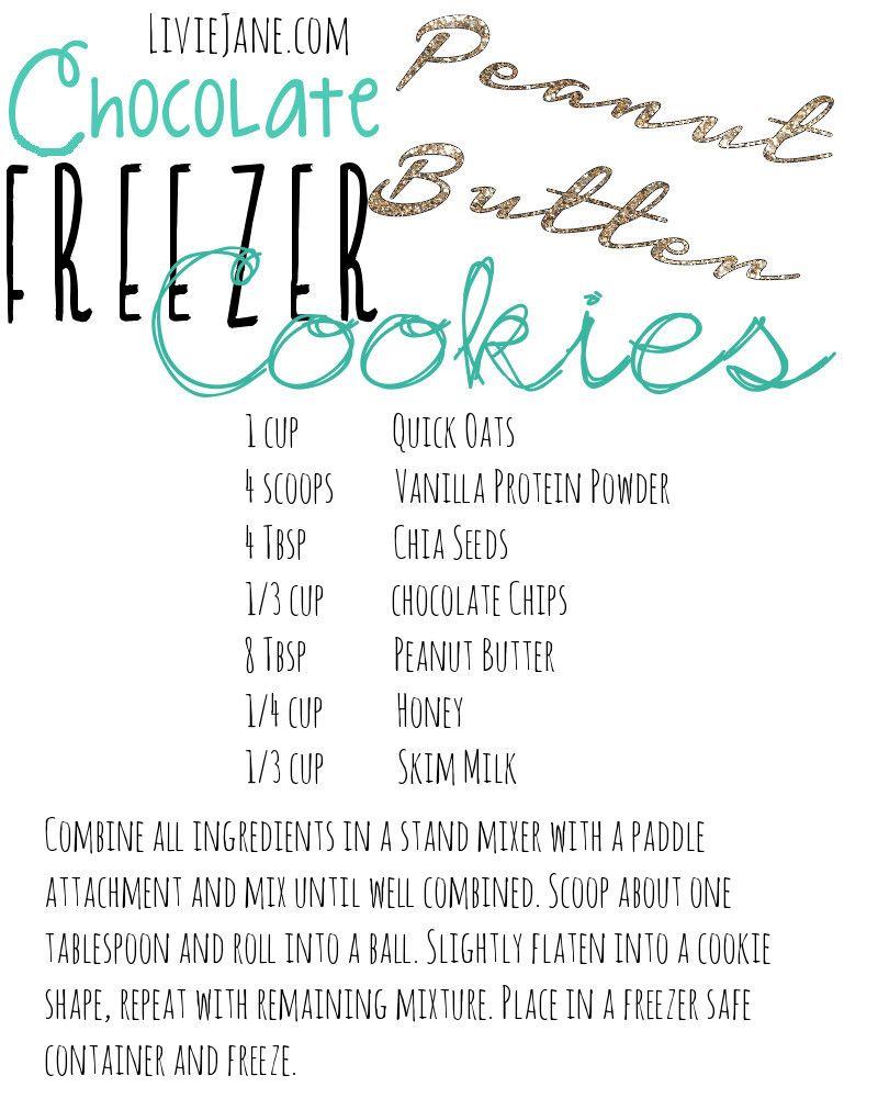 Chocolate Peanut  Butter Freezer Cookies Recipe /// LivieJane.com