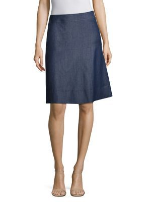 BOSS Malrehna Chambray A-Line Skirt. #boss #cloth #skirt