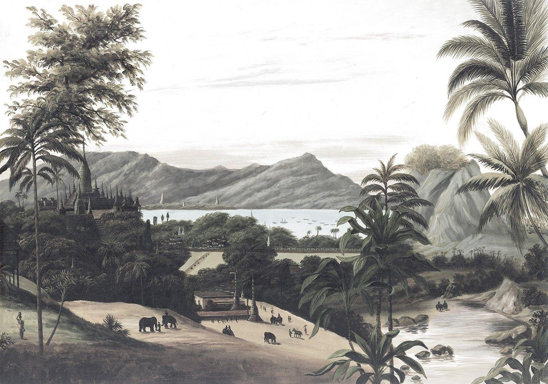 Papier Peint Panoramique Paysage papier peint panoramique paysage birman grisaille en 2020