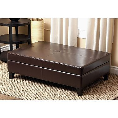 Enjoyable Palmer Leather Storage Ottoman With Flip Top Nv House Andrewgaddart Wooden Chair Designs For Living Room Andrewgaddartcom