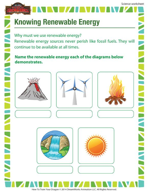 Knowing Renewable Energy Printable Science Worksheet For