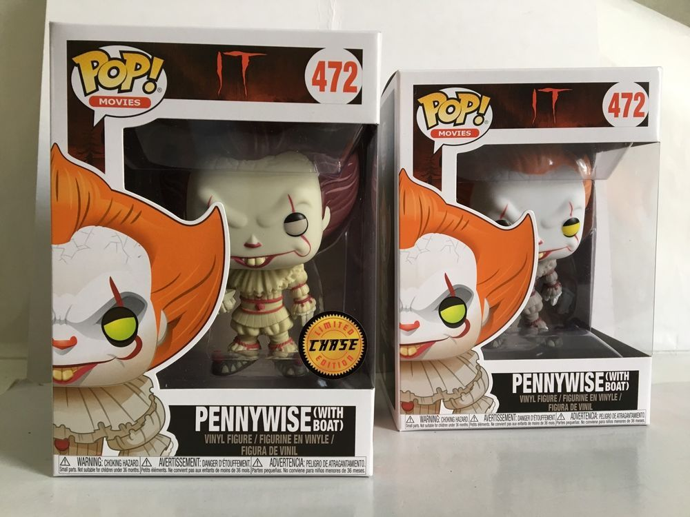 IT Pennywise with Boat Action Figure 472 Movies Funko Pop