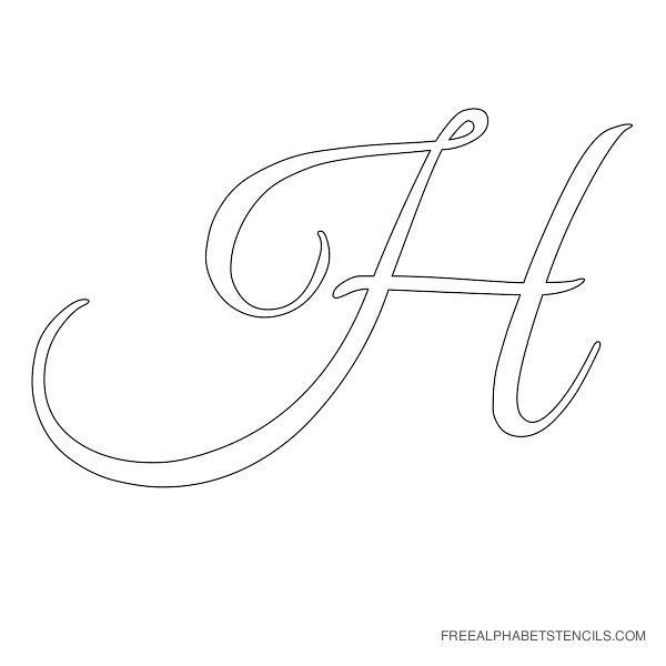 Printables H Cursive Writing cursive letters alphabet gallery free printable alphabets letter stencil h templates mixed media crafts