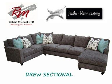 For Robert Michaels Drew Sectional And Other Living Room Sectionals At Furniture Plus Inc In Mesa Az