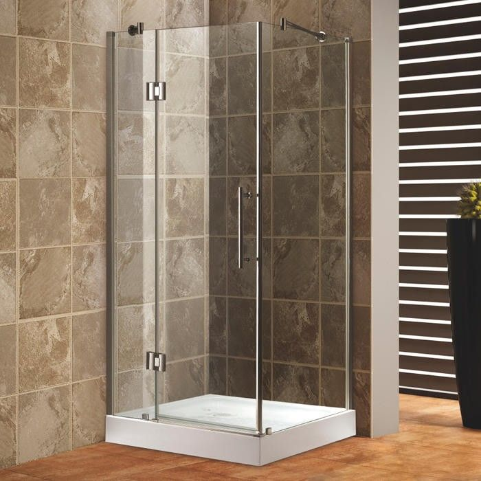 "Bathroom Remodel Corner Shower 33"" x 33"" square corner shower enclosure 