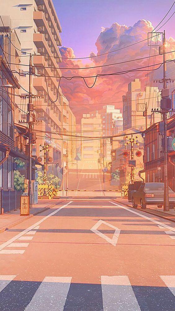 Hot Street In 2020 Scenery Wallpaper Anime Scenery Wallpaper Landscape Wallpaper
