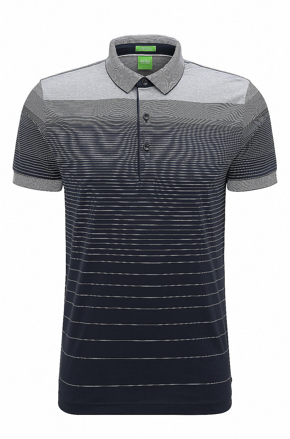 e8233003019 Regular-fit cotton polo shirt with gradient Dark Blue from BOSS Green for  Men for £95.00 in the official HUGO BOSS Online Store free shipping
