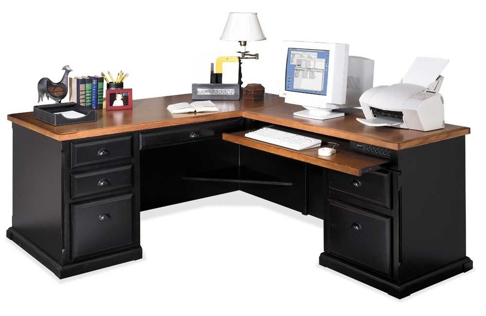 Southampton Onyx L Shaped Executive Desk With Right Facing Keyboard Return