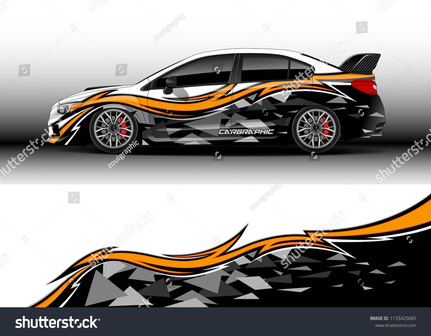 Car decal truck and cargo van wrap vector graphic abstract stripe designs for drift livery car advertisement and branding
