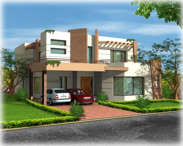 Pakistan 3d front elevatin 17 home pinterest for Exterior home design in pakistan