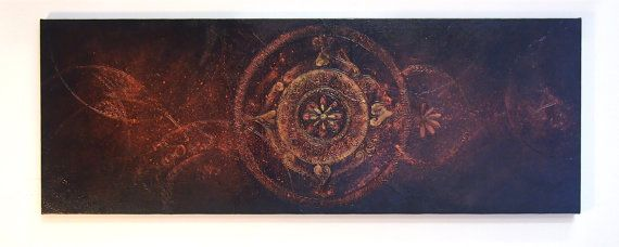 Universe  Large Acrylic Original Texture Painting on by ChingTeoh, $350.00