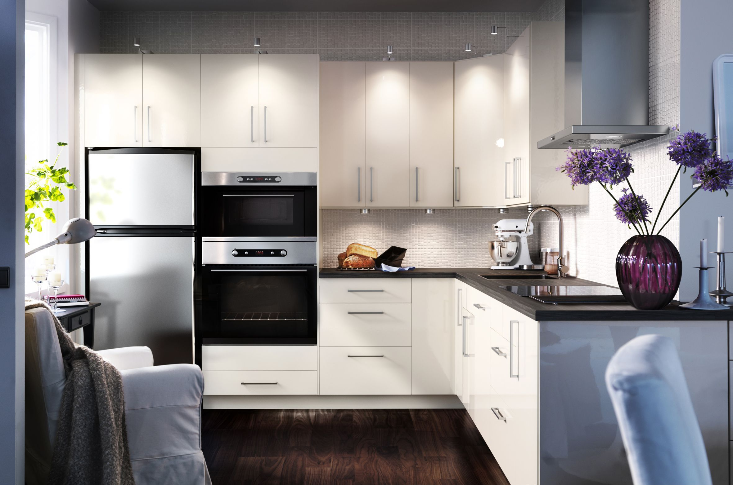Kitchen Cool Ikea Kitchen Designer Online With White And Deep Red ...