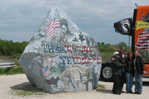 Riders Travel To Freedom Rock To Honor Veterans Honoring Veterans Freedom Rock