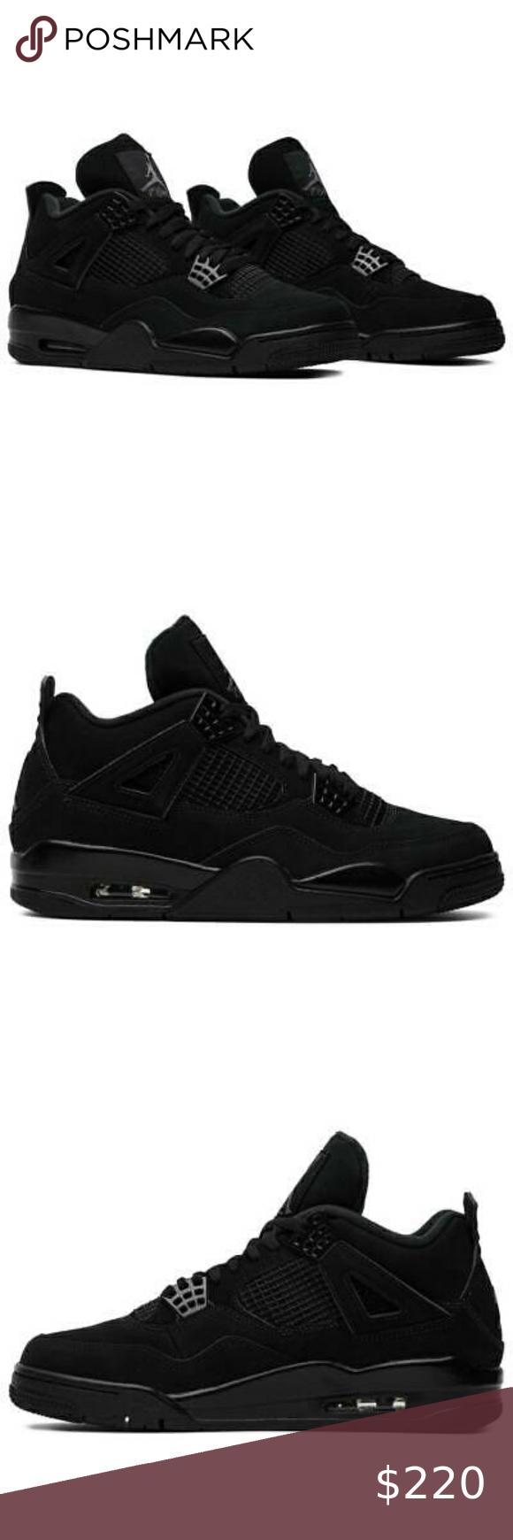 Nike Air Jordan 4 Retro 'Black Cat' 2020 Authentic NWT in