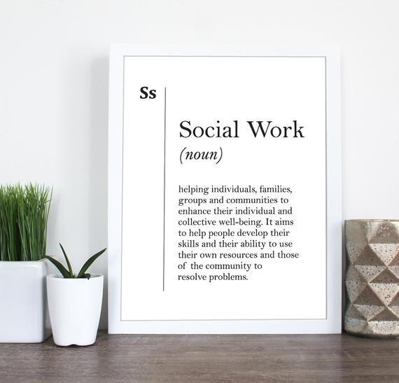 Social Work Definition Print Social Worker Gift Coworker Gift New Job Wall Art Scandinavian Social Work Wall Art Dictionary Social Poster Social Worker Gifts Social Work Social Worker Quotes