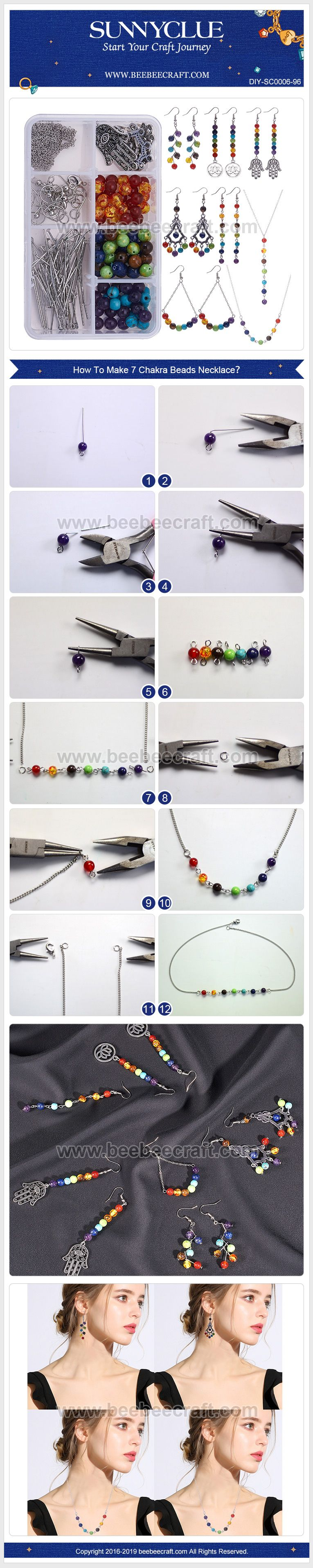 Photo of SUNNYCLUE DIY 6 Pairs #Earring Article 2 #Necklace #JewelryMaking Kit 7 Chakra L…
