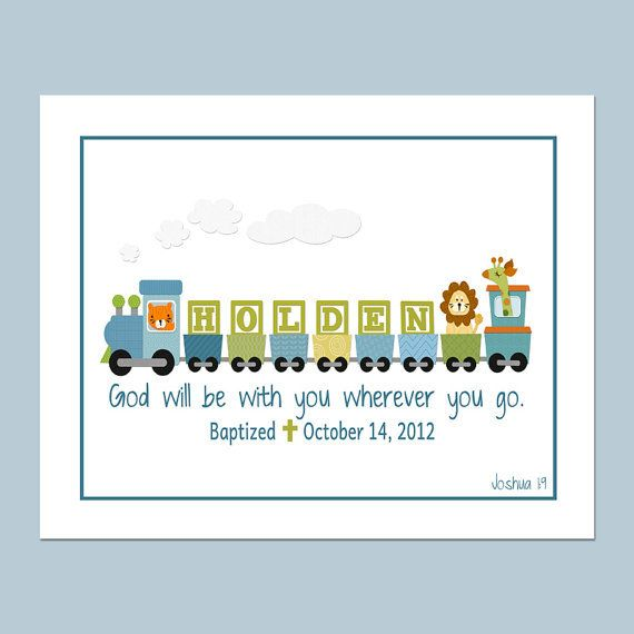 8x10 boys personalized train printable with bible verse baptism boys personalized train printable with bible verse baptism date birth info great for a baptism gift baby gift or the nursery negle Image collections