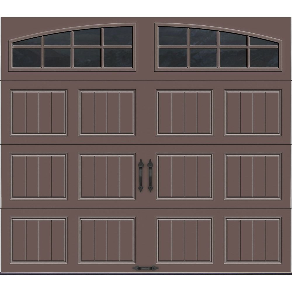 Clopay Gallery Collection 8 Ft X 7 Ft Intellicore Insulated Bronze Garage Door With Arch The Home Dep In 2020 Garage Doors Garage Door Styles Garage Door Design