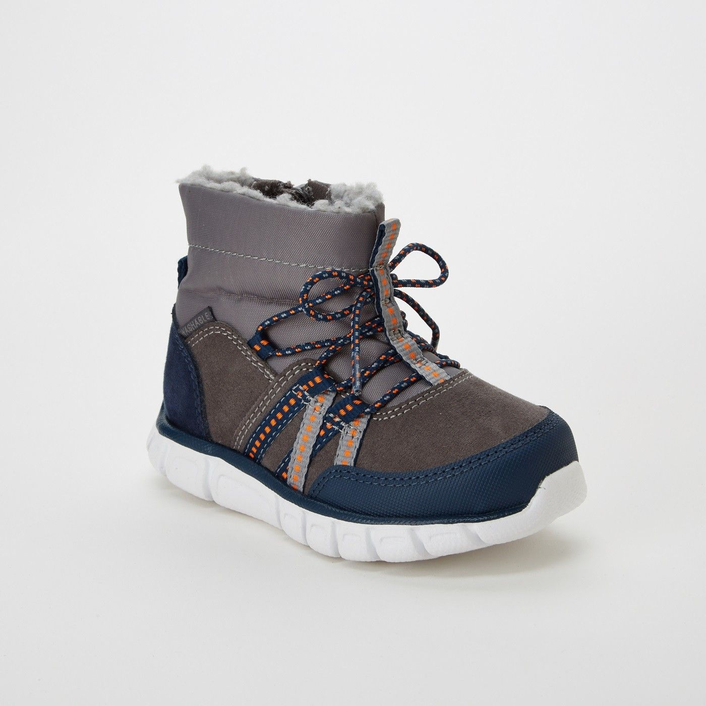Toddler Boys Surprize By Stride Rite Mike Winter Fashion Boots Gray Image 1 Of 3 Winter Fashion Boots Toddler Boots Stride Rite Shoes