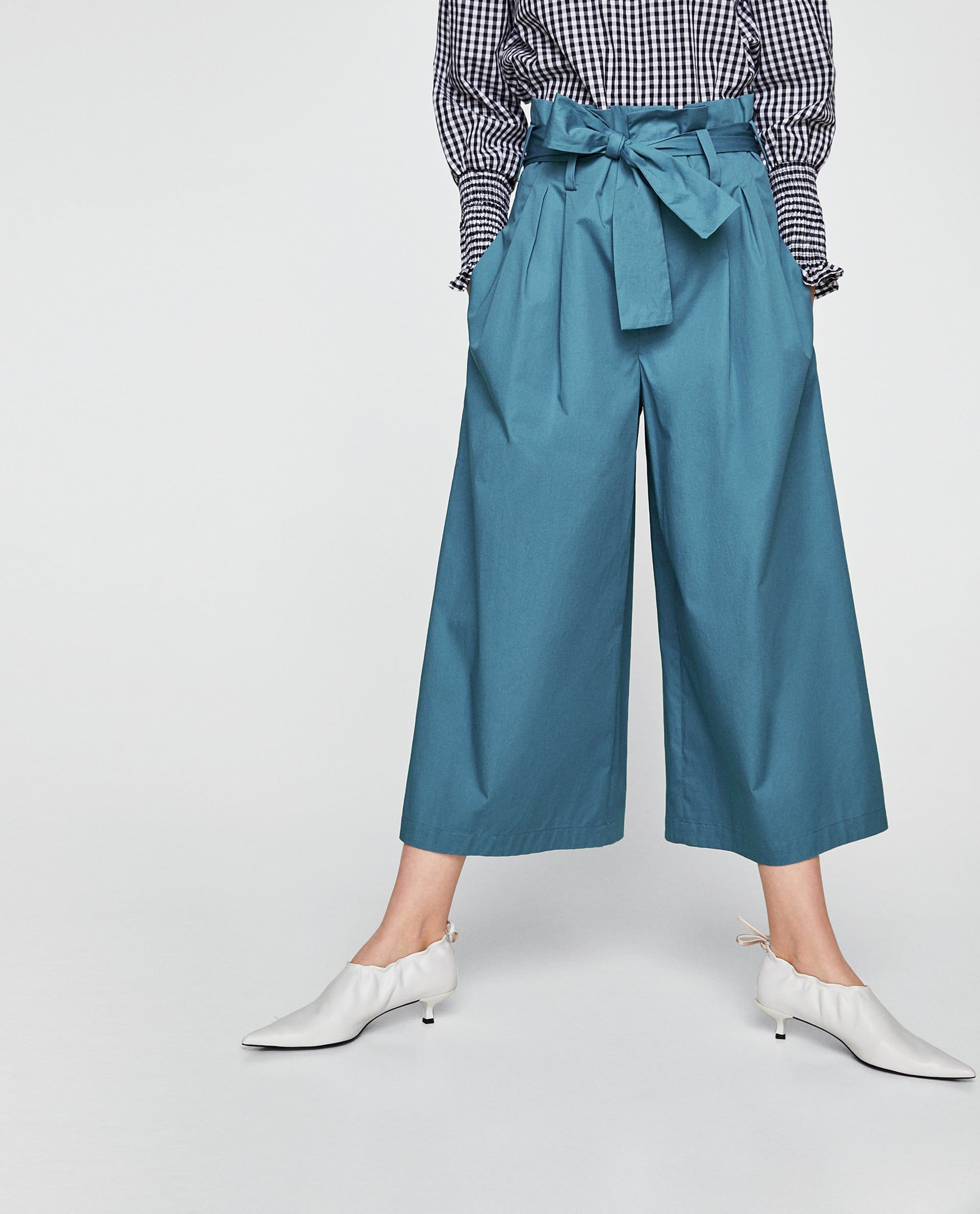 0d9c03779e Image 2 of WIDE-LEG TROUSERS from Zara | Spring 2018 in 2019 | Pants ...