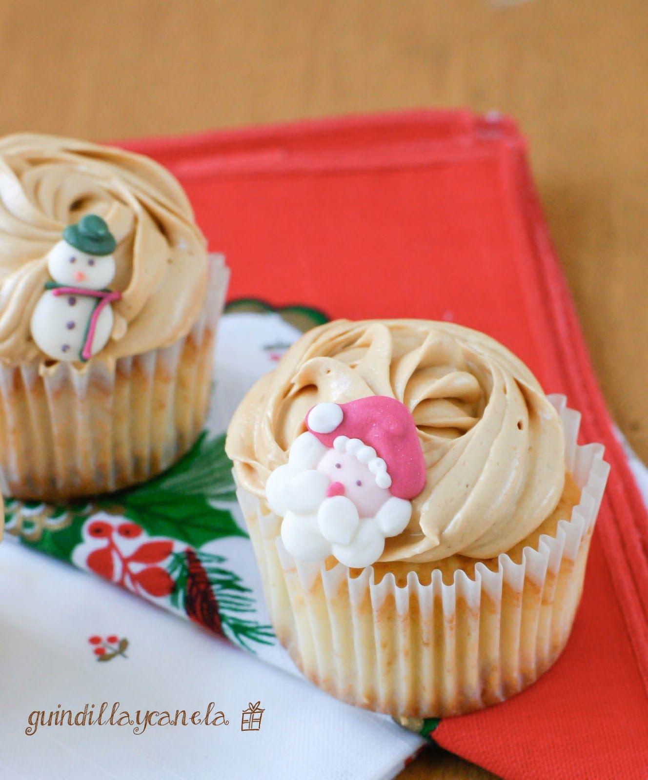 Guindilla y Canela: Cupcakes de turrón. Estamos en Navidad.
