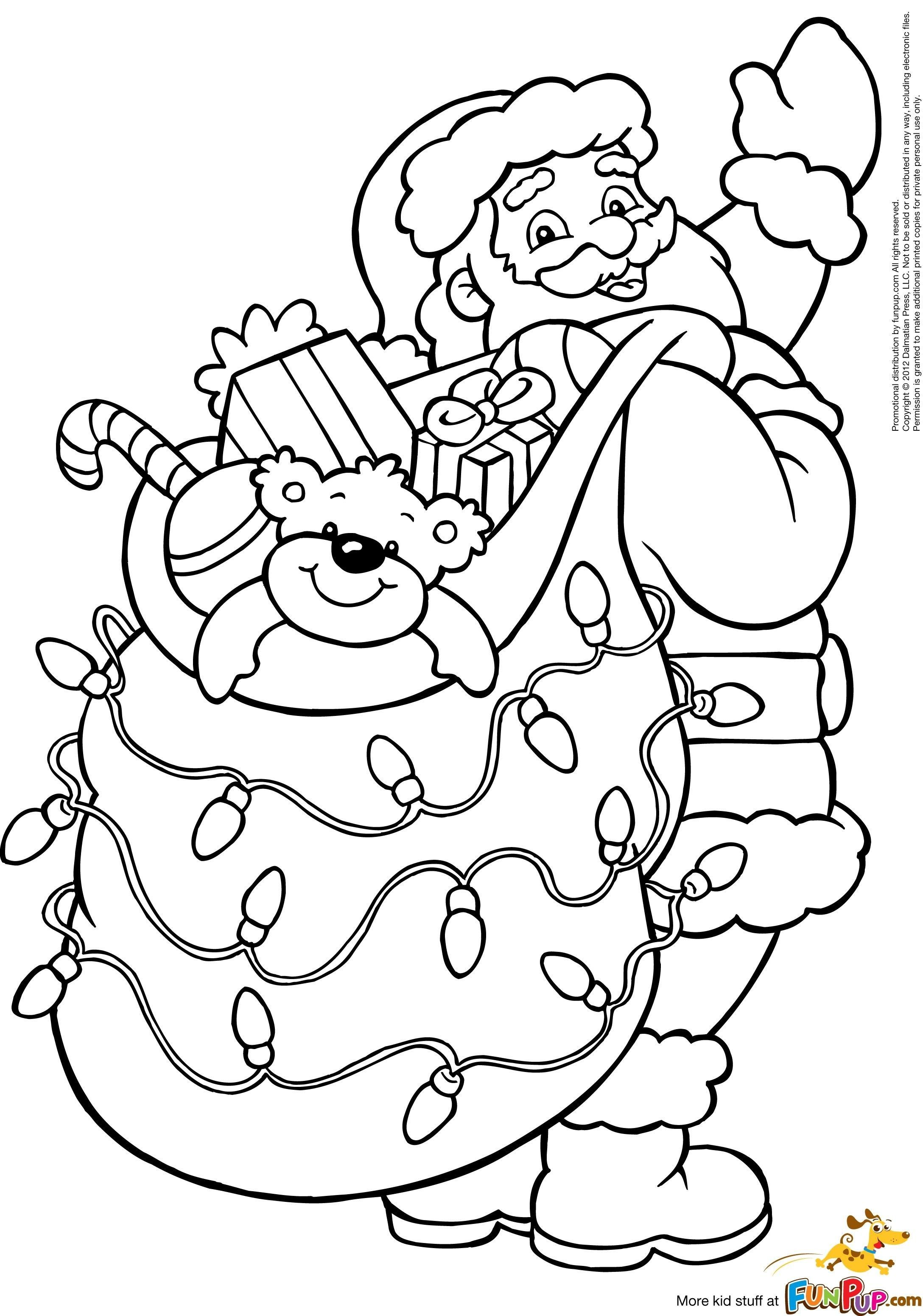 New Father Christmas Colouring Pages Coloring Coloringpages