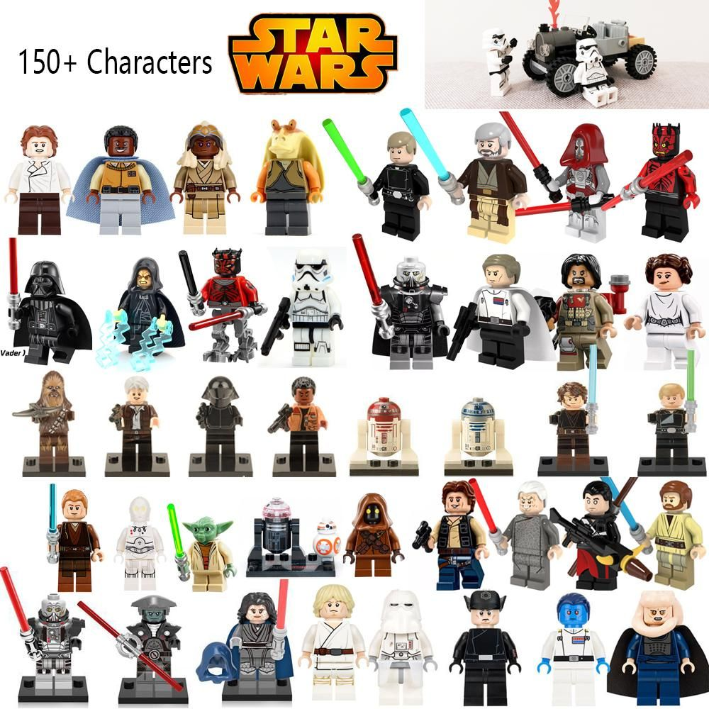 Star Wars Figures Jedi Chewbacca Han Solo Darth Vader Leia Lego
