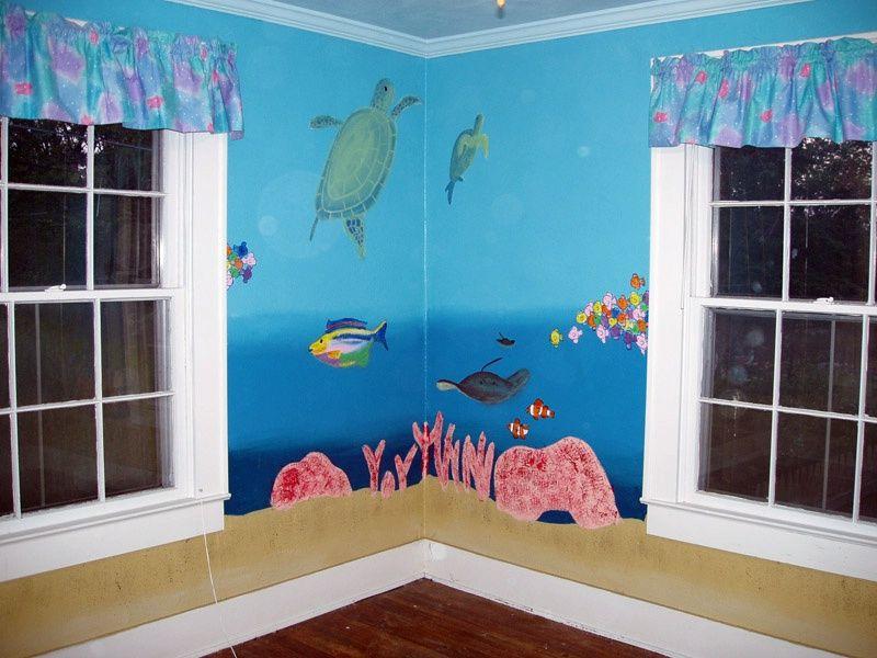 Undersea Mural For An Ocean Nursery Theme   Photo By Jeff Paulson