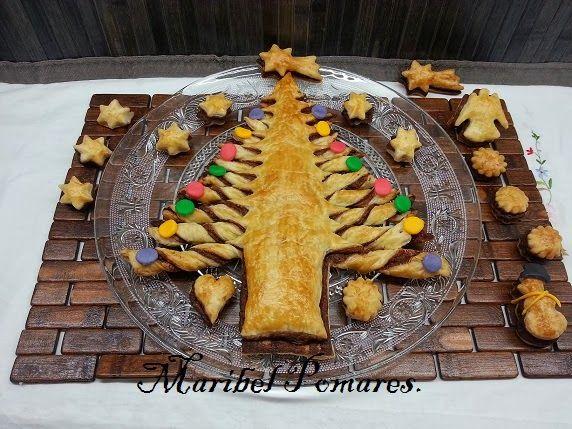 Cocinando con Maribel: Árbol de navidad con hojaldre y nutella.