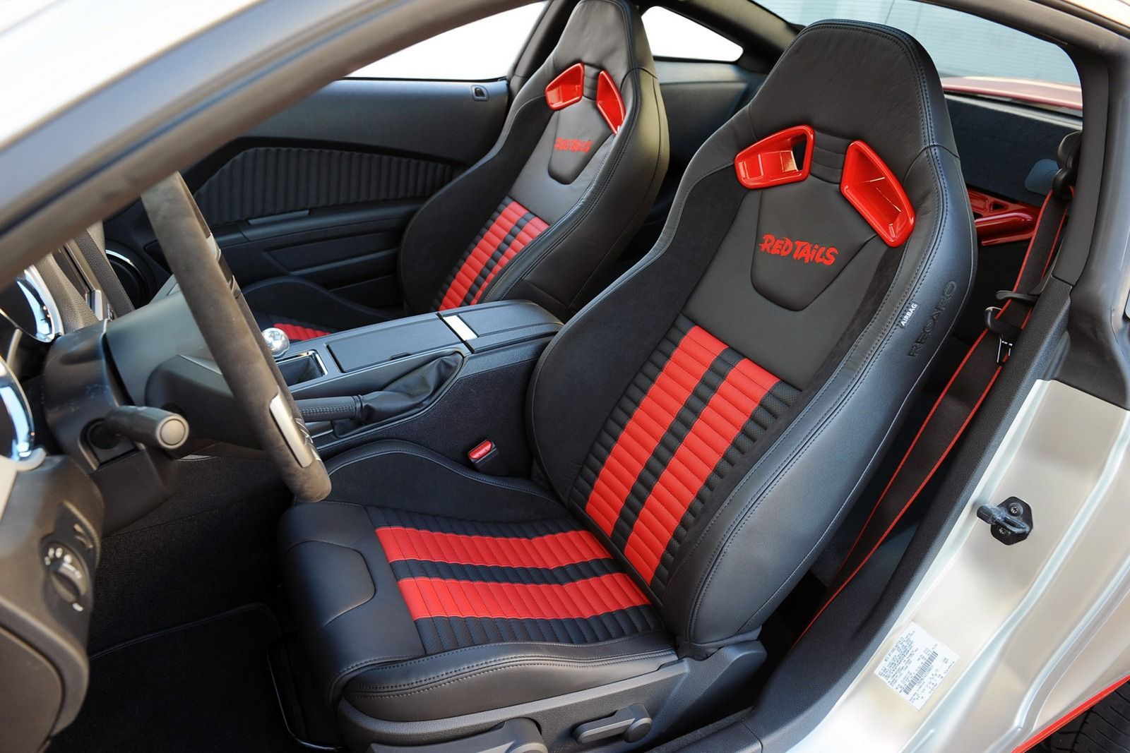 Red Tails Edition Of The 2013 Ford Mustang Gt Coupe Interior