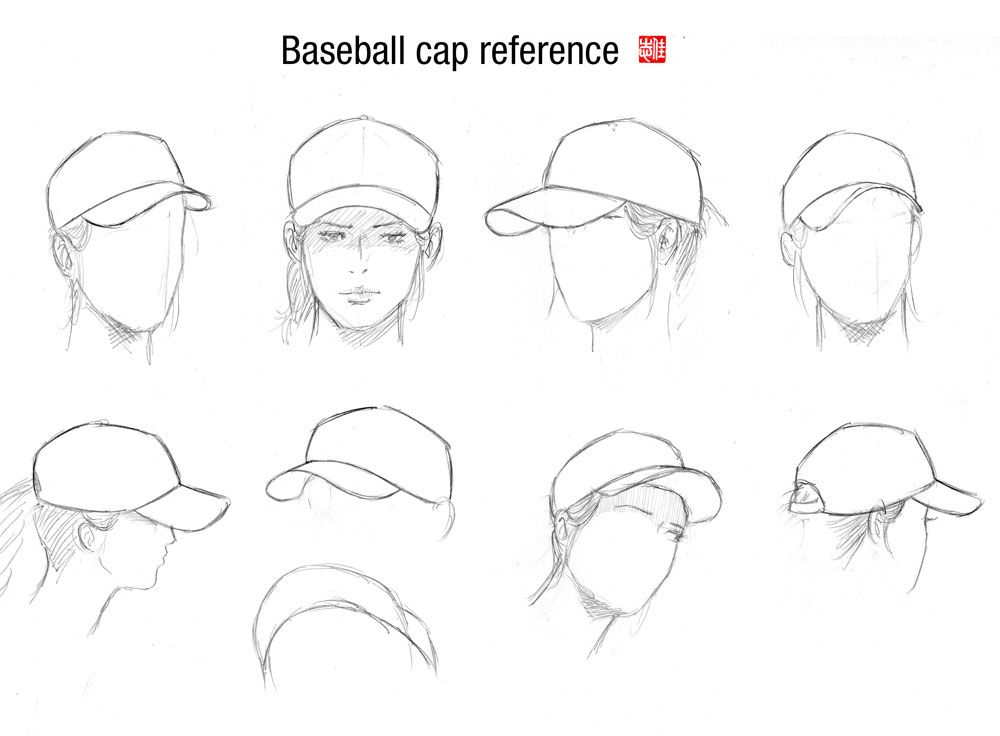Female Tutorials Part 2 Clothing Cap Drawing Drawing Hats Art Reference