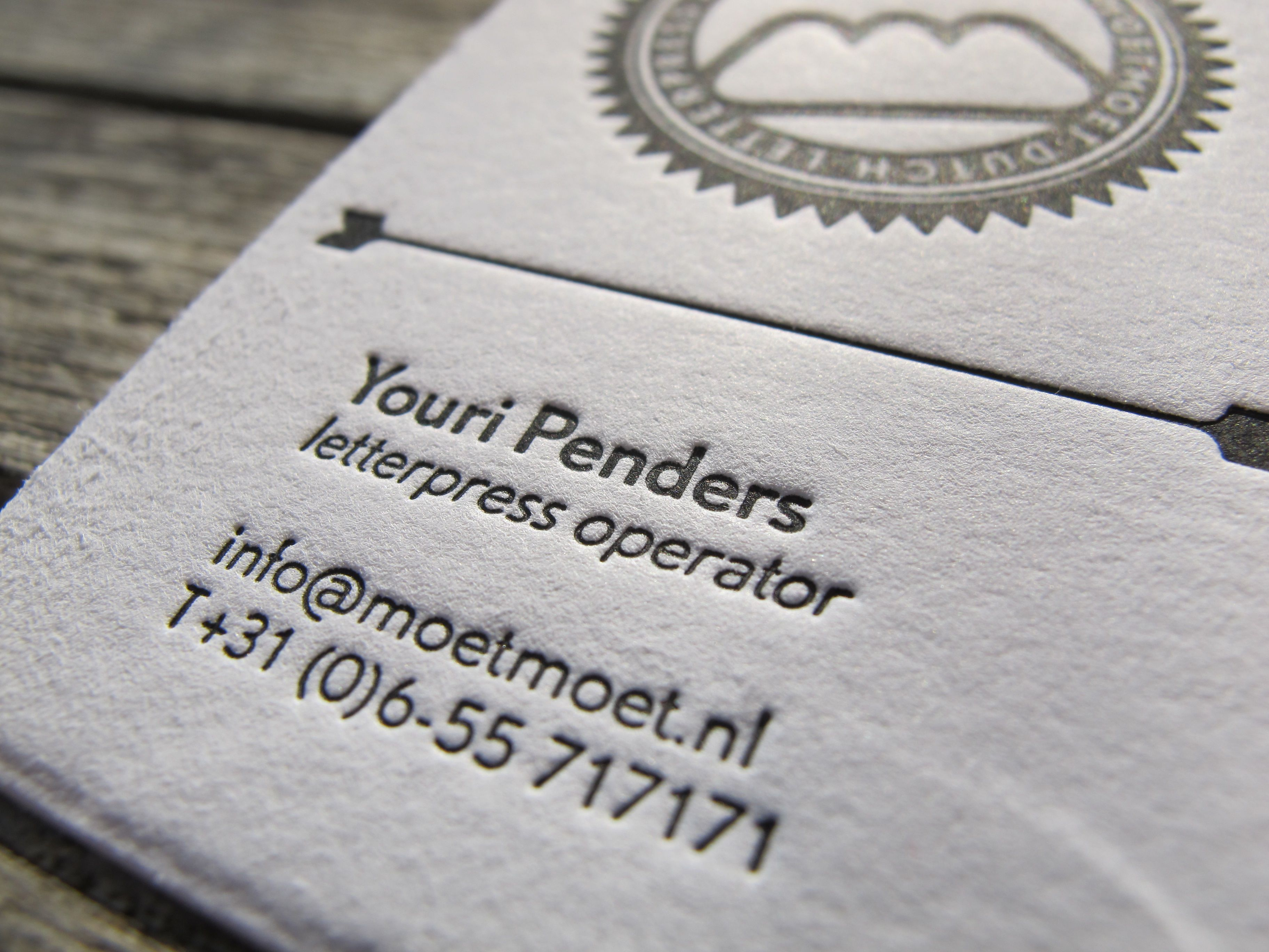 My own business card for www.moetmoet.nl