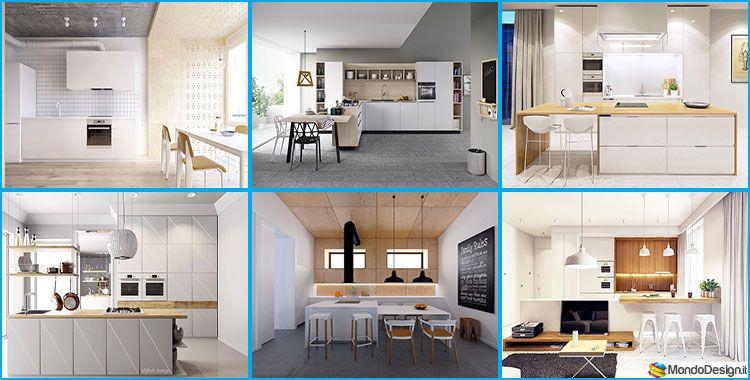 30 Foto di Cucine Bianche e Legno dal Design Moderno | MondoDesign ...