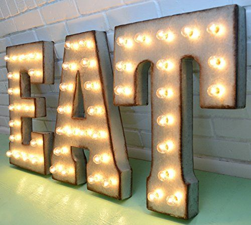 Tin Letters With Lights Tin Letters With Lights Beauteous 130 Best Signs Images On