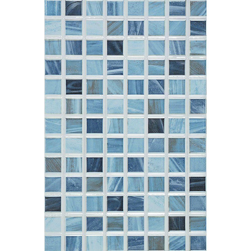 PORCELANOSA Eidos 12 in. x 8 in. Oceano Ceramic Tablet Mosaic Wall ...