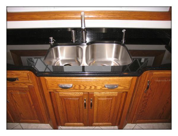 Black Galaxy Granite Countertop With Undermount Sink U0026 Ogee Edge