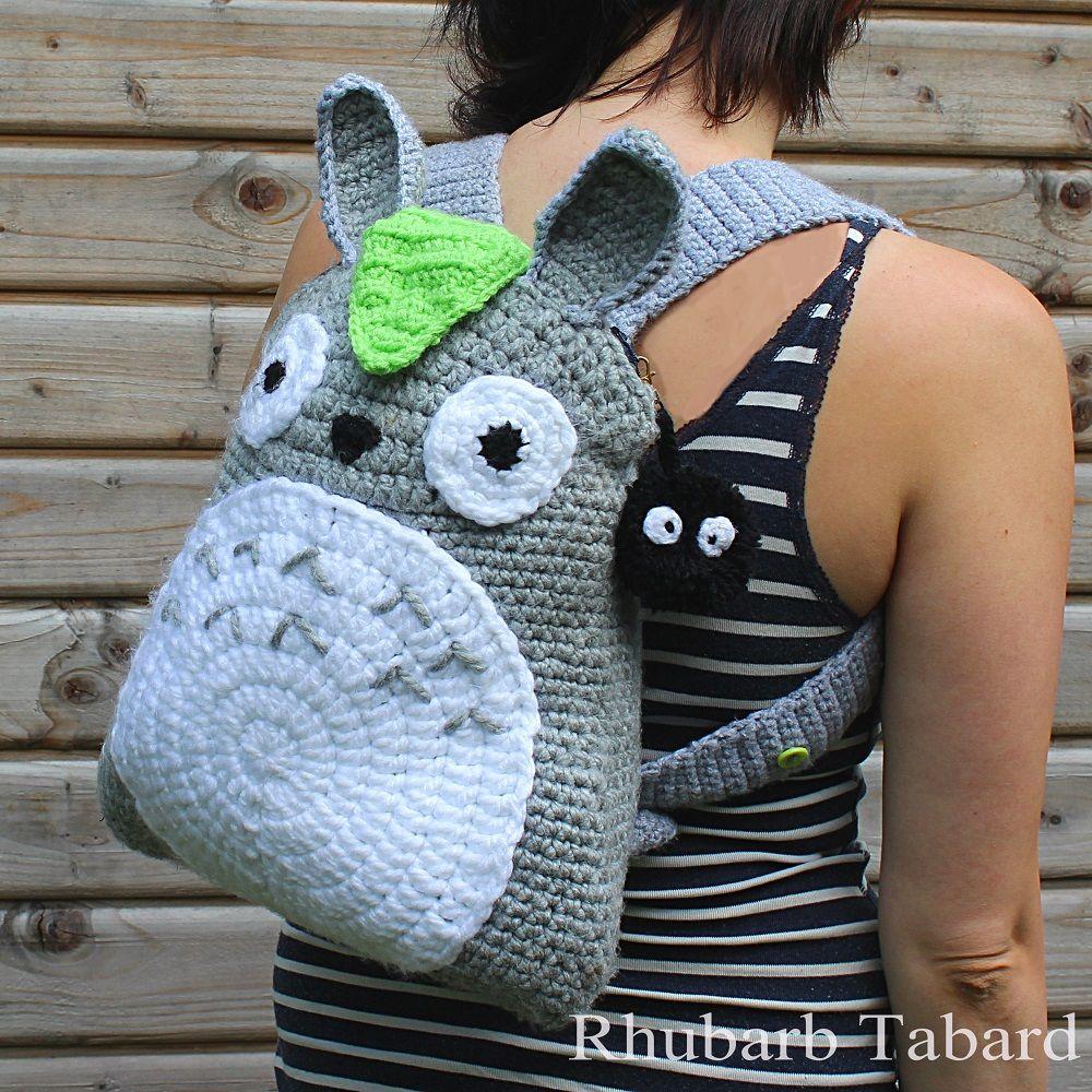 Totoro bag, Totoro backpack, soot sprite, crochet backpack, A4 bag ...