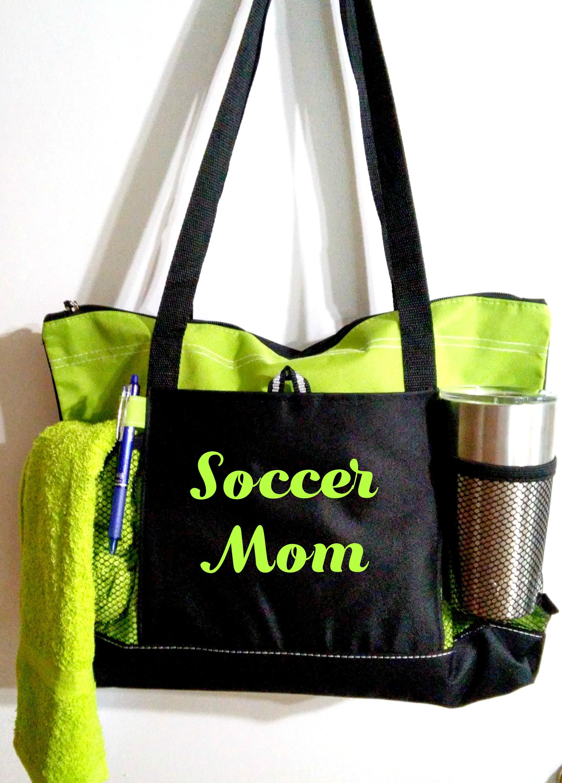 Mom sports bags  soccer football basketball lacrosse softball baseball golf   team mom gift Christmas Gift 03e3165eda