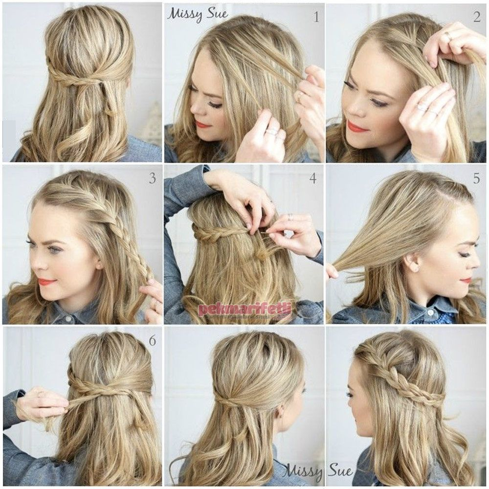 Quick Easy Hairstyles In 2 Minutes Looks Beautiful For Work Or School Quick Easy Hairstyl In 2020 Fast Hairstyles Easy Hairstyles Easy Hairstyles Quick