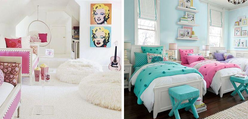 Dormitorios compartidos para niñas con estilo cool   Pinterest ...