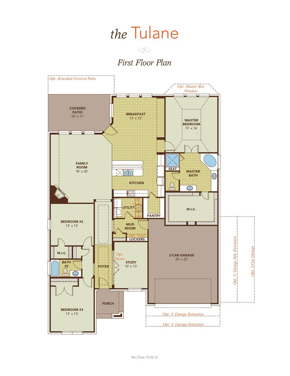 tulane first floor plan floor plans pinterest ranch patios