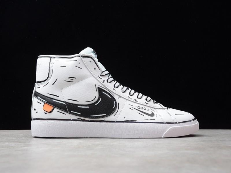 Custom Nike Blazer Mid Off-white Sketch Schematic | Nike blazer ...