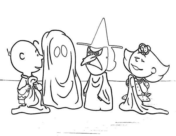 Charlie Brown Halloween Coloring Pages | Coloring Pages: Cartoons ...